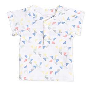 Aden + Anais Short Sleeve Henley T-Shirt -12-18mos